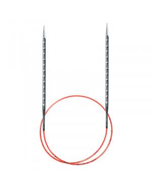 Спицы круговые супергладкие с квадратным кончиком addinovel 2,5 мм 80 см