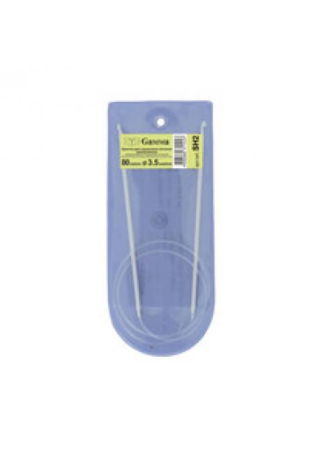 SH2 крючки для вязания циркуляр. металл d 3.5 мм 80 см в чехле